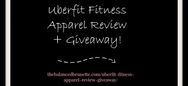 Uberfit Fitness Apparel Review + Giveaway