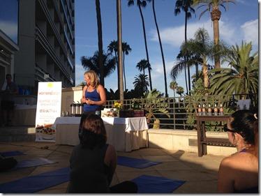 Sunrise Yoga ThinkThin Womens Forum Andrea Metcalf