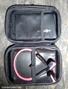 Trekz Pink Titanium Headphones and Case