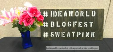 BlogFest with #SweatPink at IDEA World Recap