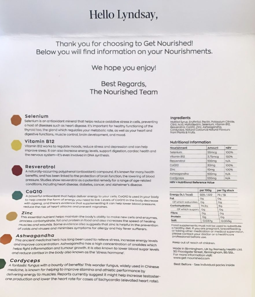 Nourished multivitamin stack blog review holiday gift guide